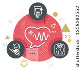 manage heart care   abstract... | Shutterstock .eps vector #1358282552