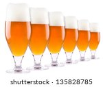 frosty fresh beer collection... | Shutterstock . vector #135828785