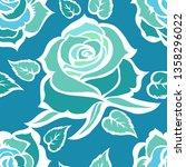 vector seamless floral pattern... | Shutterstock .eps vector #1358296022
