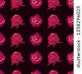 vector seamless floral pattern... | Shutterstock .eps vector #1358296025