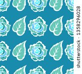 vector seamless floral pattern... | Shutterstock .eps vector #1358296028