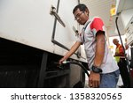 23 march 2019. petrol station... | Shutterstock . vector #1358320565