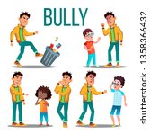 bully child vector. angry bully ... | Shutterstock .eps vector #1358366432