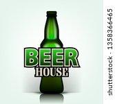 draft beer vector. draft beer... | Shutterstock .eps vector #1358366465