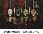 Seeds And Spices In Spoons On A ...