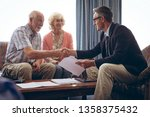 front view of matured caucasian ... | Shutterstock . vector #1358375432
