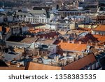 high point view of budapest... | Shutterstock . vector #1358383535