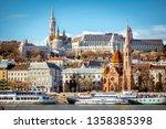 bank of the danube river in... | Shutterstock . vector #1358385398