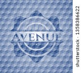 avenue blue badge with...   Shutterstock .eps vector #1358386622
