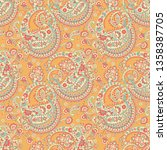 paisley seamless pattern for... | Shutterstock .eps vector #1358387705