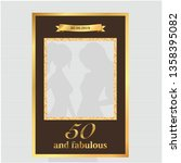 fifty and fabulous   50th... | Shutterstock .eps vector #1358395082
