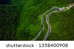 an awesome loop in the hai van... | Shutterstock . vector #1358400908