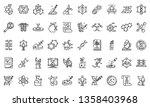genetic engineering icons set....   Shutterstock .eps vector #1358403968