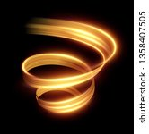 glowing shiny spiral lines... | Shutterstock .eps vector #1358407505