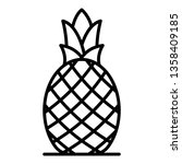 whole pineapple icon. outline... | Shutterstock .eps vector #1358409185