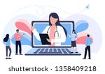 online medical consultation and ...   Shutterstock .eps vector #1358409218