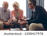 side view of matured caucasian... | Shutterstock . vector #1358417978