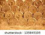 Hay And Straw Bales In The End...