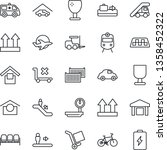 thin line icon set   taxi... | Shutterstock .eps vector #1358452322