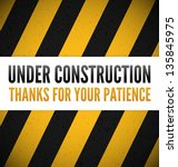 under construction theme with... | Shutterstock .eps vector #135845975