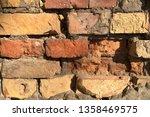close up of old broken brick... | Shutterstock . vector #1358469575