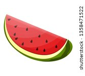 whole watermelon slice icon.... | Shutterstock .eps vector #1358471522