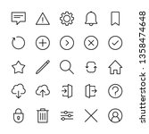 interface icons set  linear...