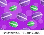 tasty macaroon pattern. cartoon ... | Shutterstock .eps vector #1358476808