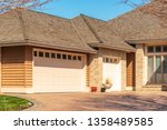 fragment of a luxury house with ... | Shutterstock . vector #1358489585