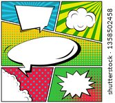 abstract creative concept comic ...   Shutterstock . vector #1358502458