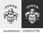 laughing head joker. hand drawn ...   Shutterstock .eps vector #1358522798