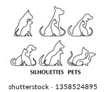 icon dog and cat | Shutterstock . vector #1358524895
