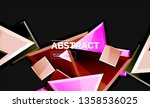 glossy squares and triangles... | Shutterstock .eps vector #1358536025