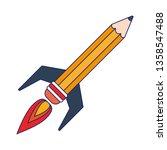 start up pencil rocket symbol... | Shutterstock .eps vector #1358547488