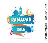ramadan sale with lantern ... | Shutterstock .eps vector #1358548775