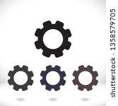 settings icon  vector 10 eps... | Shutterstock .eps vector #1358579705