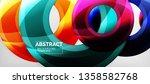 modern geometric circles... | Shutterstock .eps vector #1358582768