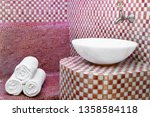traditional turkish hamam with... | Shutterstock . vector #1358584118