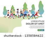 slide page with people jogging...