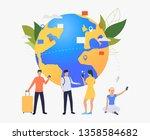 globe  tourists and smartphones ...