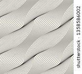 seamless ripple pattern.... | Shutterstock .eps vector #1358586002