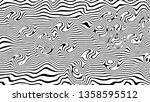 warped black stripes.abstract... | Shutterstock . vector #1358595512