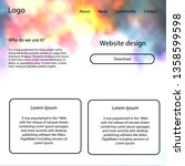 dark pink  yellow vector web ui ...