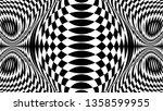 black and white glitch... | Shutterstock .eps vector #1358599955