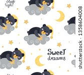 cute seamless pattern with bears   Shutterstock .eps vector #1358604008