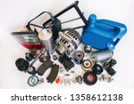 many auto spare parts | Shutterstock . vector #1358612138