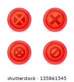 set of glossy prohibitory icons.... | Shutterstock .eps vector #135861545