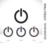 power off icon vector | Shutterstock .eps vector #1358617868