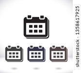 calendar 1 icon  vector 10 eps... | Shutterstock .eps vector #1358617925