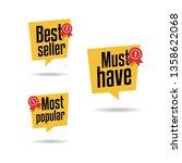 best seller  must have   most... | Shutterstock .eps vector #1358622068
